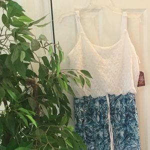 Maxi dress with attached slip.  NWT